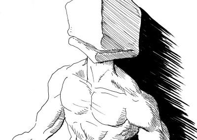 Block head, character concept