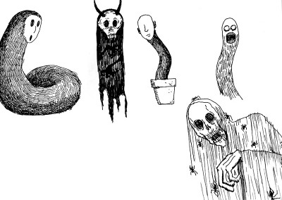 Ghost concept sketches