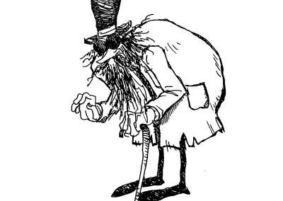 Strange man, Gorey inspired character concept