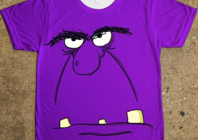 Purple Face, Halloween t-shirt design