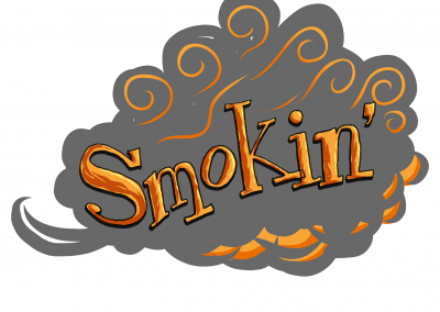 Smokin, hand lettering and Illustrator