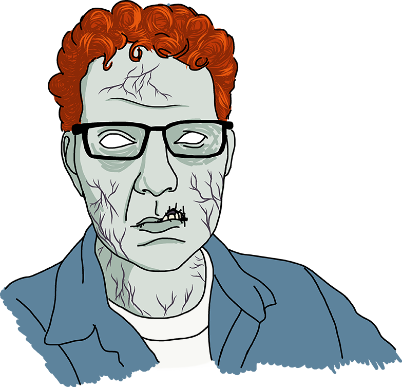 Zombie Coloring Book Brent author portrait