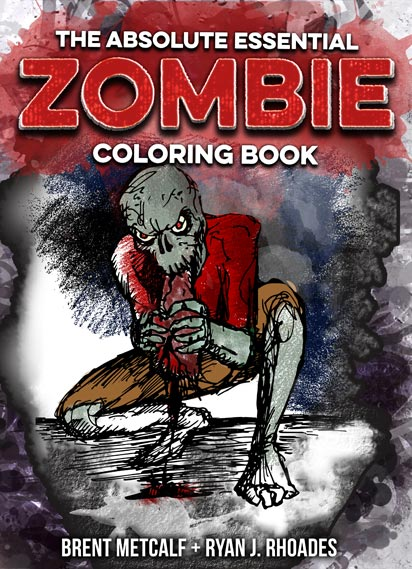 Zombie Coloring Book cover