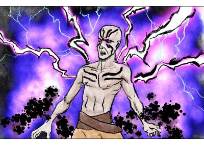 Shaman character concept, digital